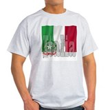 Silky Flag of Italia Ash Grey T-Shirt