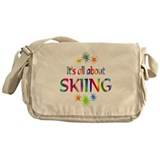 Skiing Messenger Bag