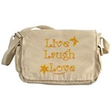 Live Laugh Love Messenger Bag