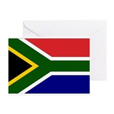 South African Flag Greeting Cards (Pk of 10)
