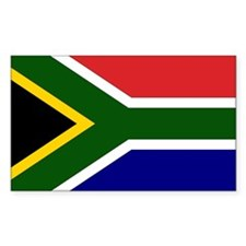 South African Flag Rectangle Decal