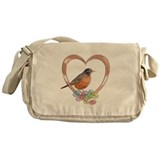 Robin in Heart Messenger Bag