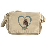 Squirrel in Heart Messenger Bag