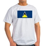 St Lucia Flag Ash Grey T-Shirt