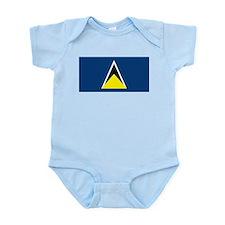 St Lucia Flag Infant Creeper