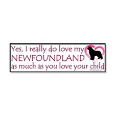 Love My Newf Car Magnet 10 x 3