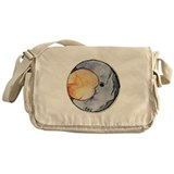 Watercolor Crescent Moon Messenger Bag