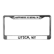 Happiness is Utica License Plate Frame