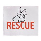 cute bunny RESCUE Throw Blanket