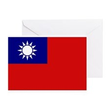 Taiwanese Flag Greeting Cards (Pk of 10)