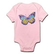 Purple Painted Butterfly Infant Bodysuit
