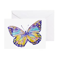 Purple Painted Butterfly Greeting Cards (Pk of 20)