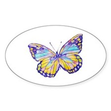 Purple Painted Butterfly Decal