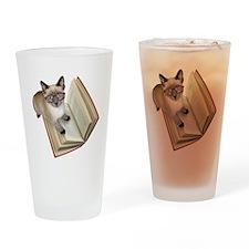 Kitten Book Drinking Glass