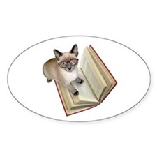 Kitten Book Decal