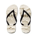 Distressed Peace Flip Flops