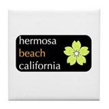 Unique California beaches Tile Coaster