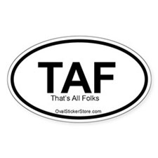 That's All Folks Acronym Oval Decal