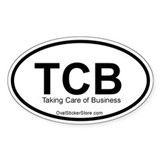Taking Care of Business Acronym Oval Decal