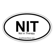Not in Therapy Acronym Oval Decal
