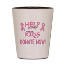 DONATE NOW Shot Glass