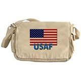 USAF (with flag) Messenger Bag