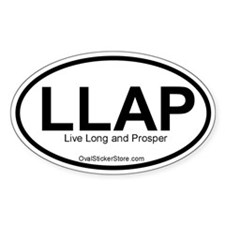 Live Long and Prosper Acronym Oval Decal
