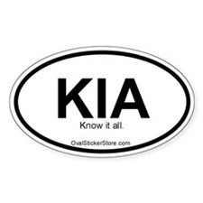 Know It All Acronym Oval Decal
