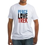 Peace Love Trek Fitted T-Shirt