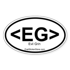 Evil Grin Acronym Oval Decal