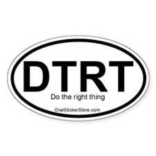 Do the right thing Acronym Oval Decal