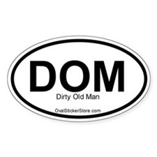 Dirty Old Man Acronym Oval Decal