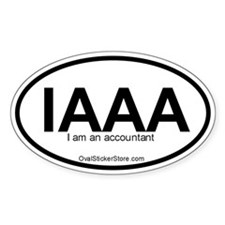 I am an accountant Acronym Oval Decal