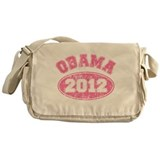 OBAMA 2012 Pink Faded Messenger Bag