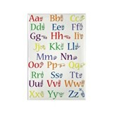 ASL Alphabet - Rectangle Magnet