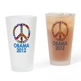 Re Elect Obama in 2012 Drinking Glass