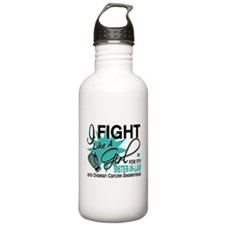 Fight Like a Girl For My Ovarian Cancer Sports Water Bottle