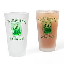 St Patricks Day Birthday Baby Drinking Glass