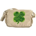 Giant Shamrock Happy Birthday Messenger Bag
