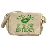 Kiss Me March 17 Birthday Messenger Bag