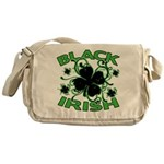 Black Shamrocks Black Irish Messenger Bag