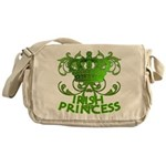 Crown and Scroll Irish Princess Messenger Bag
