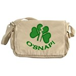 O'Snap Funny Shamrock Messenger Bag
