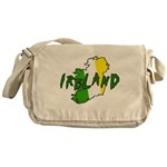 Irish Colors on Irish Map Messenger Bag