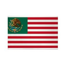 Mexican American Flag Rectangle Magnet (10 pack)