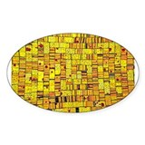 Balinese Glass Tile Art-YEL Decal