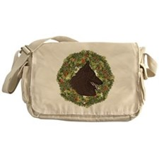 Belgian Tervuren Xmas Wreath Messenger Bag