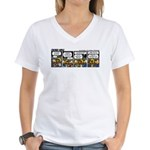 0542 - Hello, my name is ... Women's V-Neck T-Shir