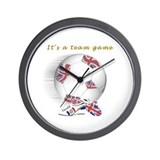 Great British Kids Football Wall Clock