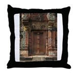 Banteay Srei False Door 1 Throw Pillow